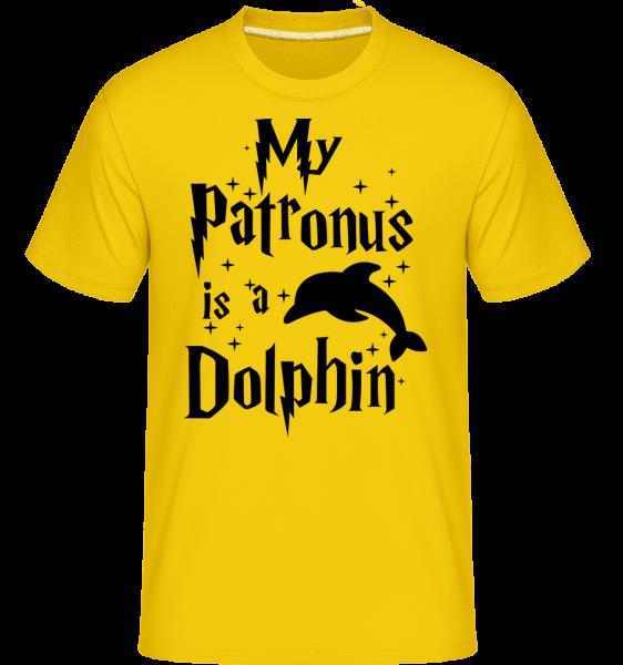 My Patronus Is A Dolphin - Shirtinator tričko pre pánov - Zlatožltá - Predné