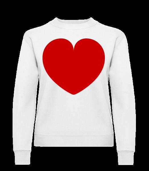 Heart - Klasická mikina pre dámy sg - Biela - Predné