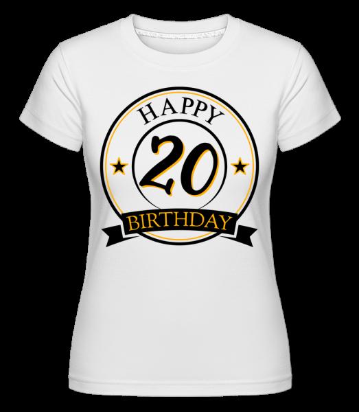 Happy Birthday 20 - Shirtinator tričko pre dámy - Biela - Predné