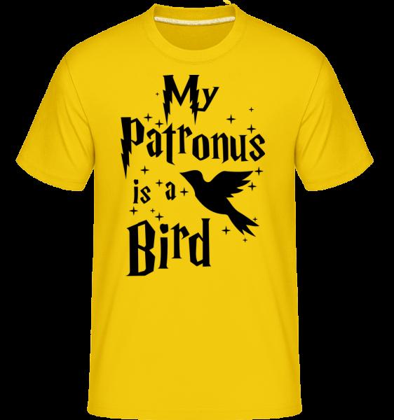 Môj patrón je vták -  Shirtinator tričko pre pánov - Zlatožltá - Predné