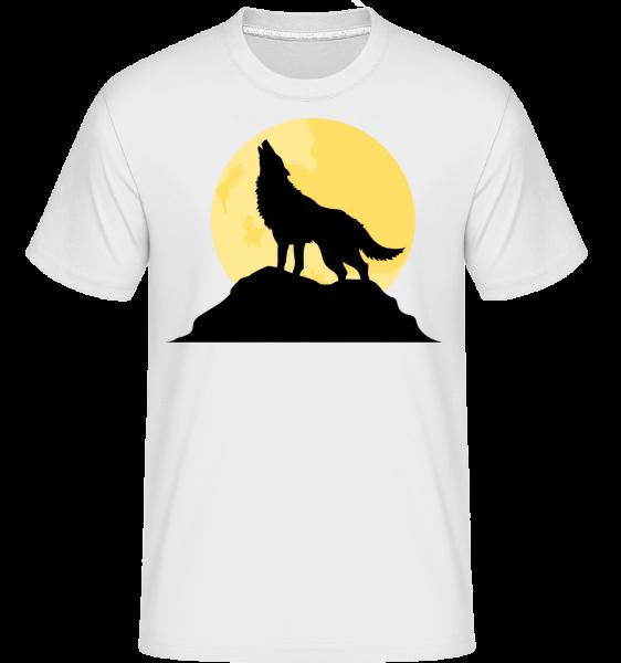 Gothic Wolf Sunset - Shirtinator tričko pre pánov - Biela - Predné