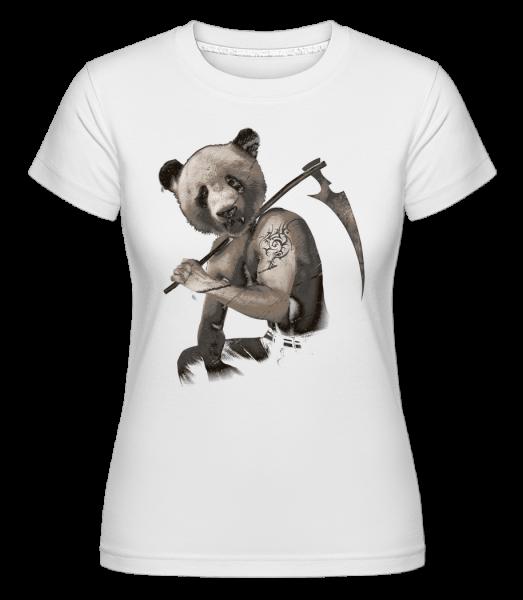 Scythe Panda - Shirtinator tričko pre dámy - Biela - Predné