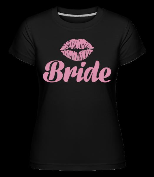 nevesta bozk - Shirtinator tričko pre dámy - Čierna1 - Predné