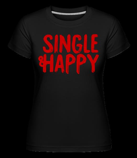 Jednotný a šťastný -  Shirtinator tričko pre dámy - Čierna1 - Predné