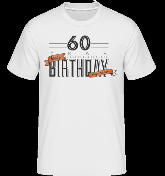 60 narodeniny znamenia -  Shirtinator tričko pre pánov - Biela - Predné