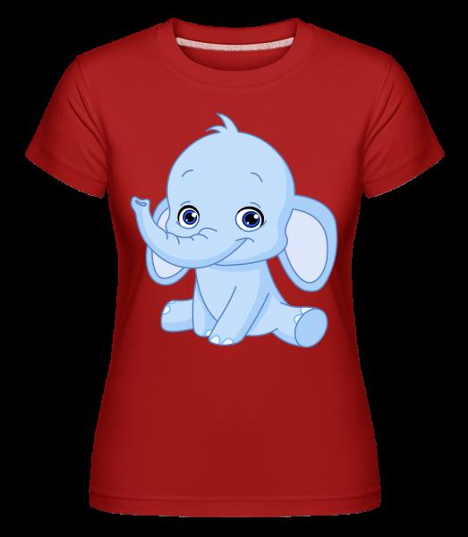 Elephant Comic -  Shirtinator tričko pre dámy - červená - Predné