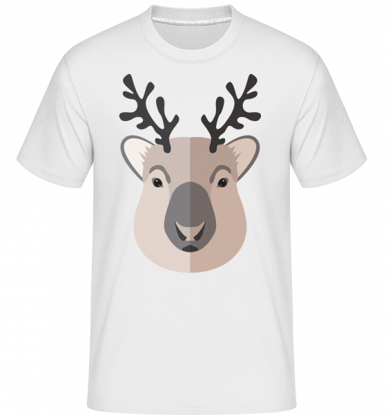 Deer Comic Shadow -  Shirtinator tričko pre pánov - Biela - Predné
