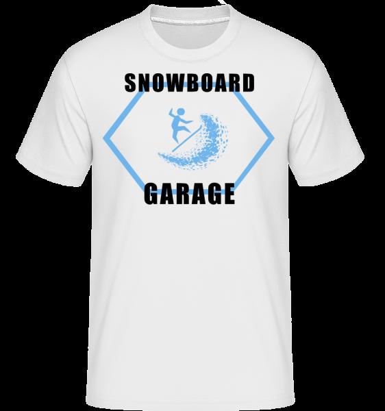 Snowboard Garage Sign - Shirtinator tričko pre pánov - Biela - Predné
