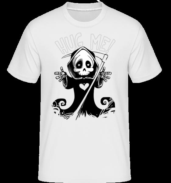 Death chcem to Hug -  Shirtinator tričko pre pánov - Biela - Predné