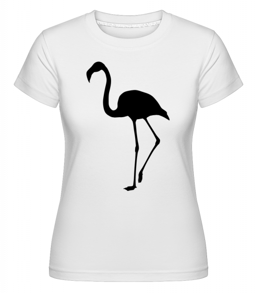 Flamingo Shadow -  Shirtinator tričko pre dámy - Biela - Predné