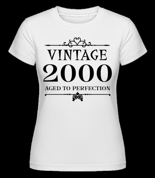 Vintage 2000 Perfection -  Shirtinator tričko pre dámy - Biela - Predné