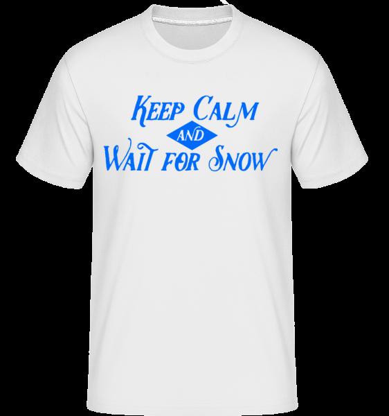 Čakajú na sneh -  Shirtinator tričko pre pánov - Biela - Predné