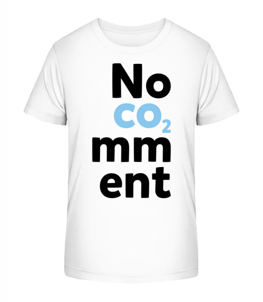 Bez komentára - Detské Premium Bio tričko - Biela - Predné