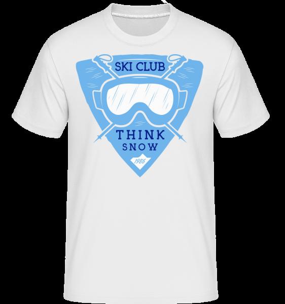 Ski Club Think sneh -  Shirtinator tričko pre pánov - Biela - Predné