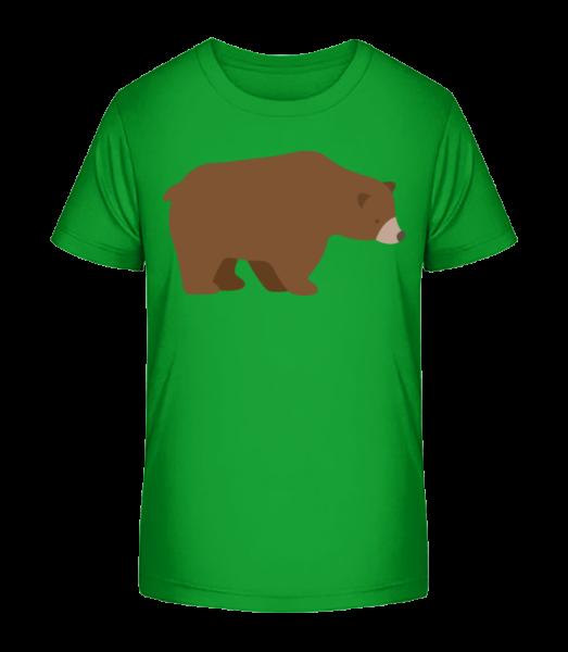 Sad Bear - Detské Premium Bio tričko - Zelená - Predné