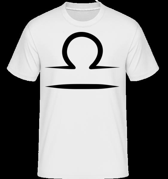 libra znamenie -  Shirtinator tričko pre pánov - Biela - Predné