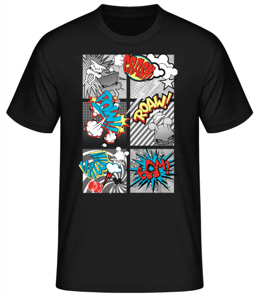 Cartoon škriatkov - Basic T-Shirt - Černá - Predné