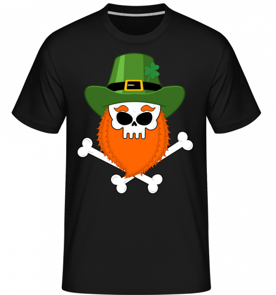 irish Skull -  Shirtinator tričko pre pánov - Čierna1 - Predné