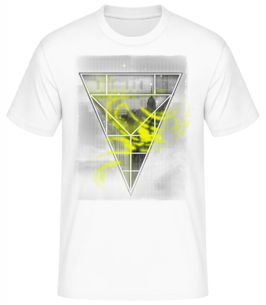 Skyline Triangle - Pánske basic tričko - Biela - Predné