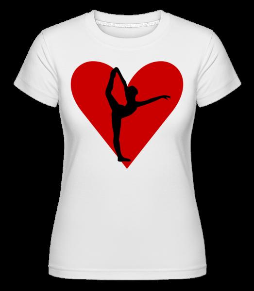 Yoga Heart -  Shirtinator tričko pre dámy - Biela - Predné