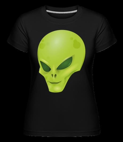 alien Head -  Shirtinator tričko pre dámy - Čierna1 - Predné