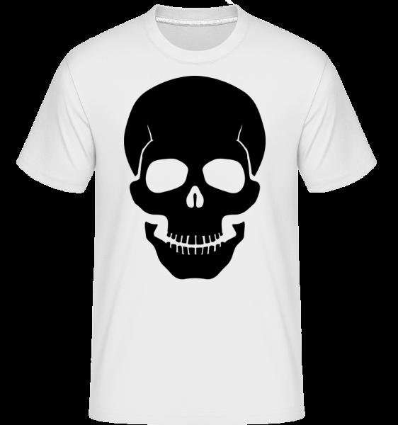 Skull Black -  Shirtinator tričko pre pánov - Biela - Predné