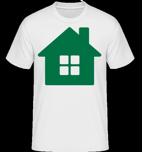 House Icon Green - Shirtinator tričko pre pánov - Biela - Predné