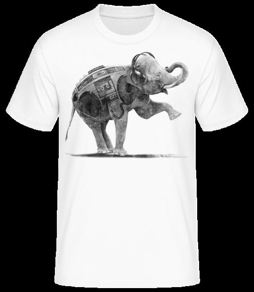 Ghettoblaster Elephant - Pánske basic tričko - Biela - Predné
