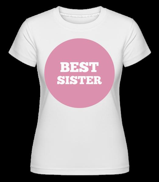 Best Sister -  Shirtinator tričko pre dámy - Biela - Predné