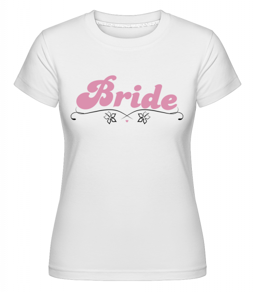 nevesta - Shirtinator tričko pre dámy - Biela - Predné