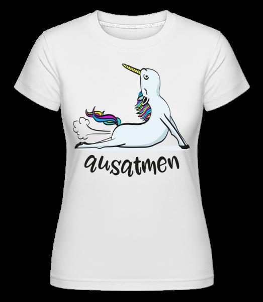 Jóga Unicorn Exhale - Shirtinator tričko pre dámy - Biela - Predné