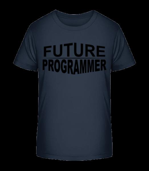 budúce Programátor - Detské Premium Bio tričko - Namornícka modrá - Predné