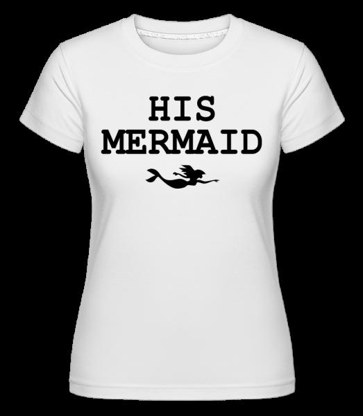 jeho Mermaid -  Shirtinator tričko pre dámy - Biela - Predné