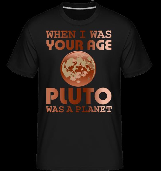 Keď som bol v tvojom veku -  Shirtinator tričko pre pánov - Čierna - Predné
