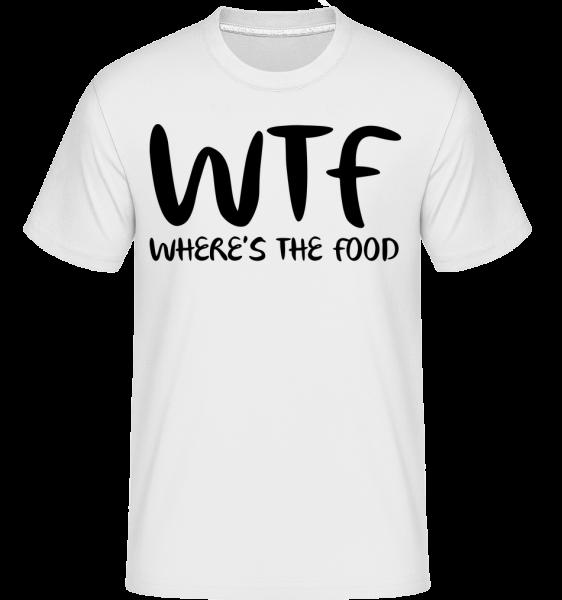 WTF Kde je jedlo - Shirtinator tričko pre pánov - Biela - Predné