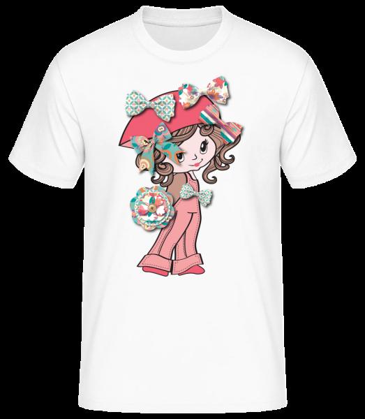 slučka dievčatá - Basic T-Shirt - Bílá - Predné