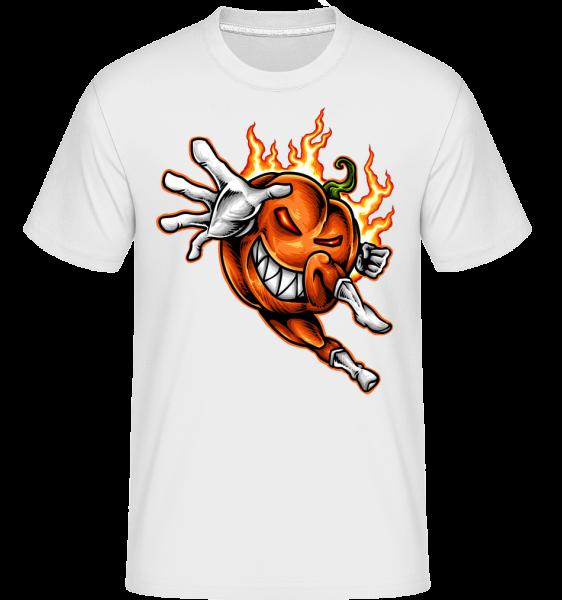 horiace tekvica - Shirtinator tričko pre pánov - Biela - Predné