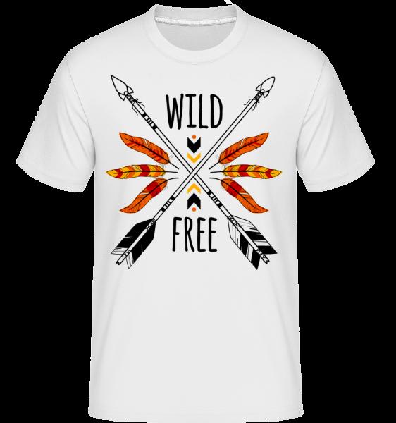 Divoké a slobodné Logo -  Shirtinator tričko pre pánov - Biela - Predné