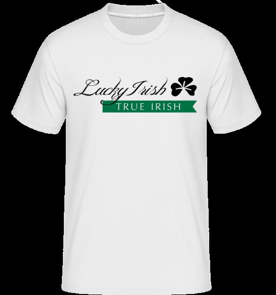 Lucky Irish Sign -  Shirtinator tričko pre pánov - Biela - Predné