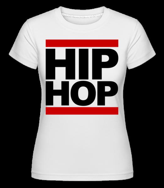 Hip Hop Logo -  Shirtinator tričko pre dámy - Biela - Predné