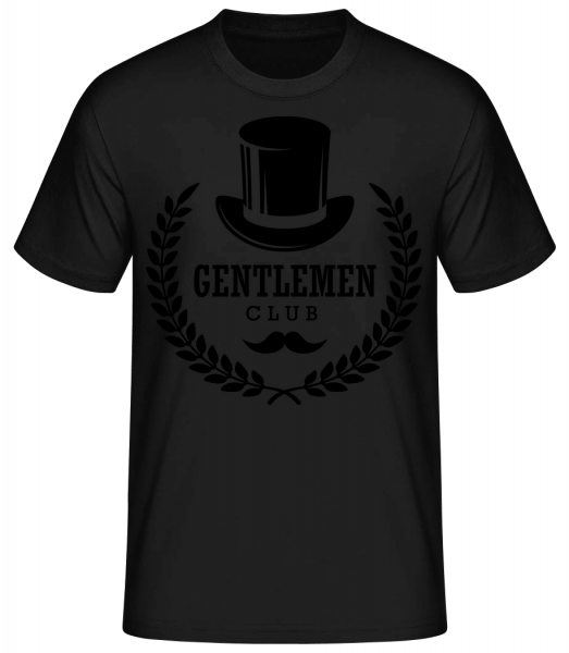 páni Club - Pánske basic tričko - Čierna - Predné