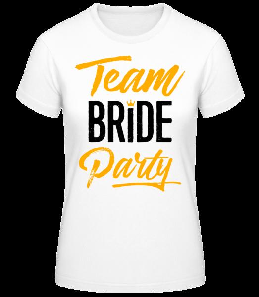 Team Bride Party - Basic T-Shirt - Biela - Predné