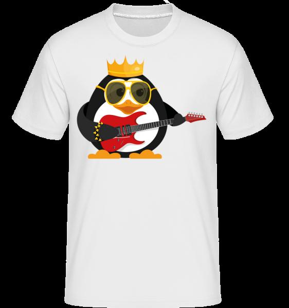Penguin King Guitar -  Shirtinator tričko pre pánov - Biela - Predné
