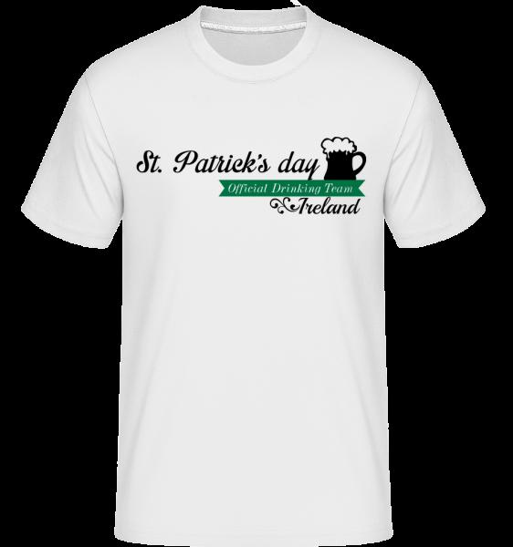 St. Patrick's Day Logo -  Shirtinator tričko pre pánov - Biela - Predné