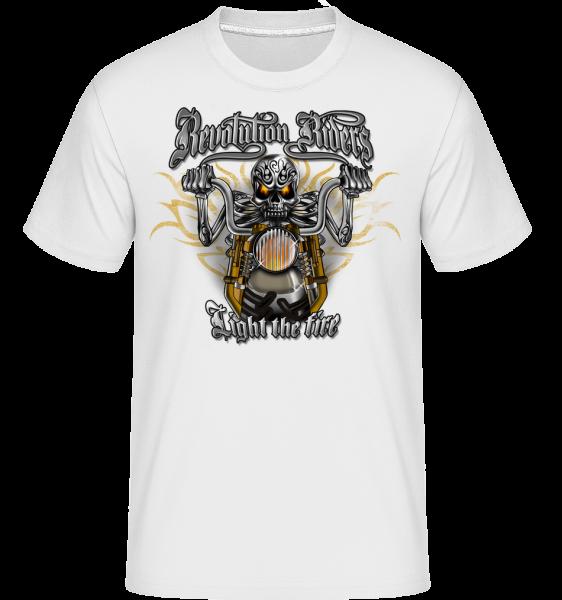 Revolution Riders - Shirtinator tričko pre pánov - Biela - Predné