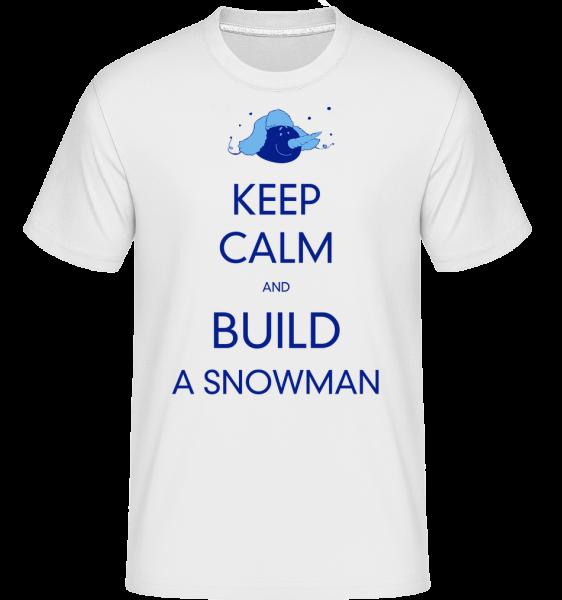 Postaviť snehuliaka Znamenie -  Shirtinator tričko pre pánov - Biela - Predné