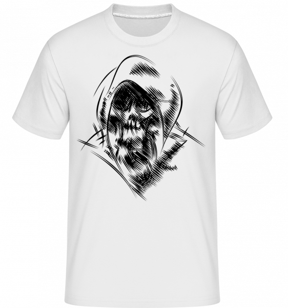 gothic Skull -  Shirtinator tričko pre pánov - Biela - Predné