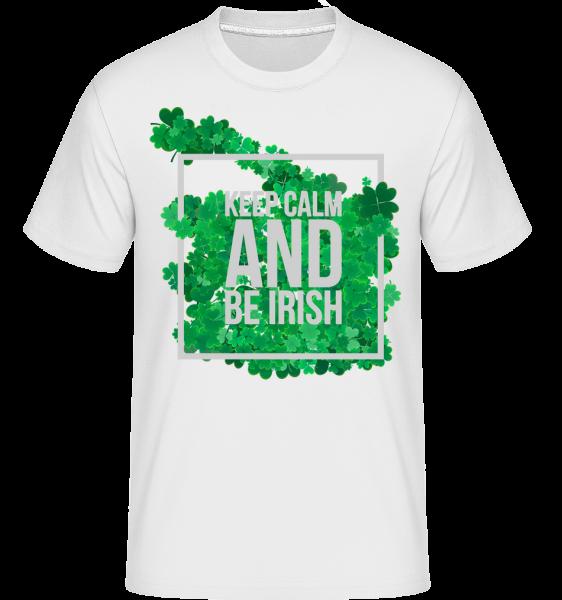 Zachovať pokoj a byť Irish Logo -  Shirtinator tričko pre pánov - Biela - Predné