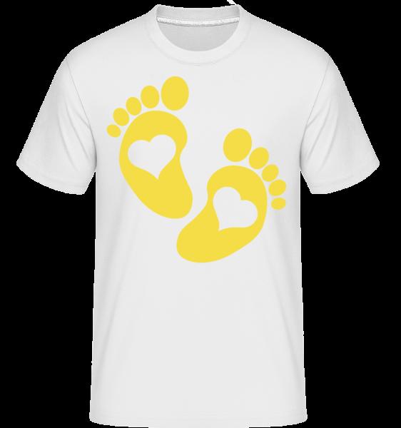 Baby Feet -  Shirtinator tričko pre pánov - Biela - Predné