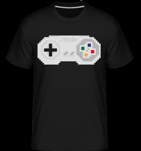 Konzola Controller Oldschool -  Shirtinator tričko pre pánov - Čierna1 - Predné